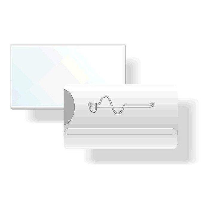 Durable Namensschild mit Security Clip 54x85mm transparent VE=25 St/ück