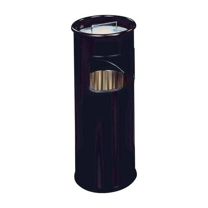 Durable 330301 Papierkorb Metall Rund 30 Liter Schwarz