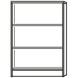 Regal weiß inklusive 2 Holz-Fachböden