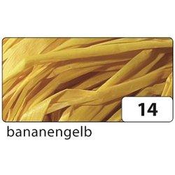 Raffia-Naturbast 50g bananengelb