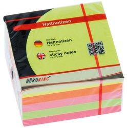 Haftnotizwürfel Büroring 133337 neon 75x75mm 450Bl