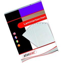 Büroring Laminierfolie 54x86mm 125mic für Kreditkarten