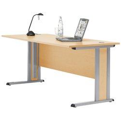 Schreibtisch Basic 1600x800 mm. Inkl. Sichtschutzblende sowie