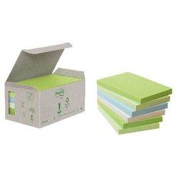Haftstreifen Post-it 6551GB Rainbow Notes Recycle 76x127mm 6x100Bl