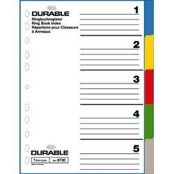 Register A4 Blanko mehrfarbig 5-tlg.