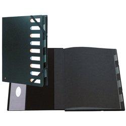 Ordnungsmappe Karton 220g A4 9-teilig schwarz