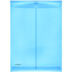 Umschlag PP A4 hoch blau/transluzent 200my