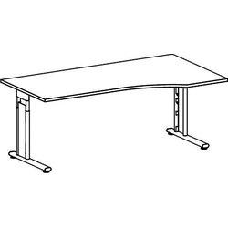 PC-Tisch rechts Ahorn/Silber Lissabon