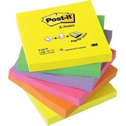 Haftnotiz Post-it R330NR Z-Notes neon 76x76mm 6x100Bl