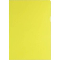 Sichthülle  A4 genarbt gelb 120my 100 Stück