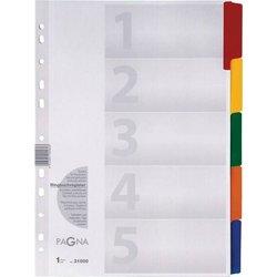 Register A4 Blanko 5-farbig 5tlg