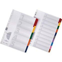 Register A4 Blanko 5-farbig 10-tlg.