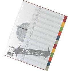 Register A4 Blanko 6-farbig 12-tlg.