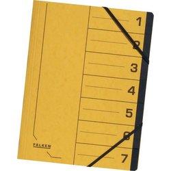 Ordnungsmappe Colorspankarton 355g A4 7-teilig gelb