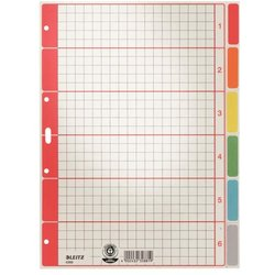 Register A4 Blanko farbig 6-tlg.