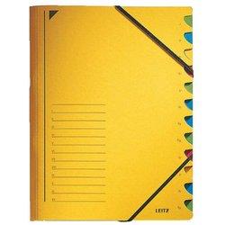 Ordnungsmappe Karton 300g A4 12-teilig gelb
