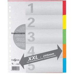 Register A4 Blanko 5-farbig 5-tlg.