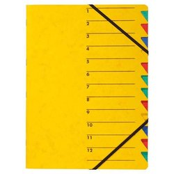 Ordnungsmappe 1-12, gelb