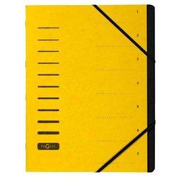 Ordnungsmappe Pressspankarton 280g A4 7-teilig gelb