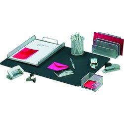 Schreibtisch-Set silber 8-teilig