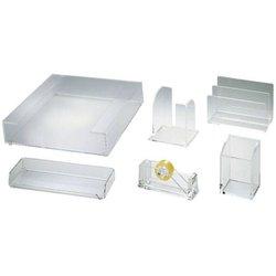 Schreibtisch-Set Wedo 69116 Acryl 6-teilig transparent